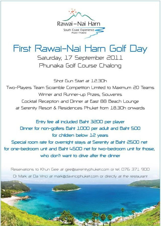 First Rawai Nai Harn Golf Day