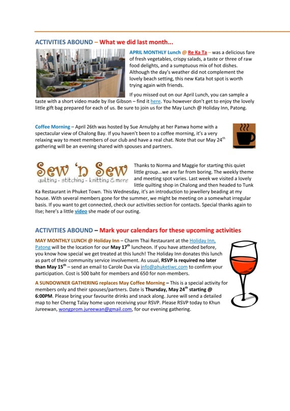 May 2012 PIWC Newsletter